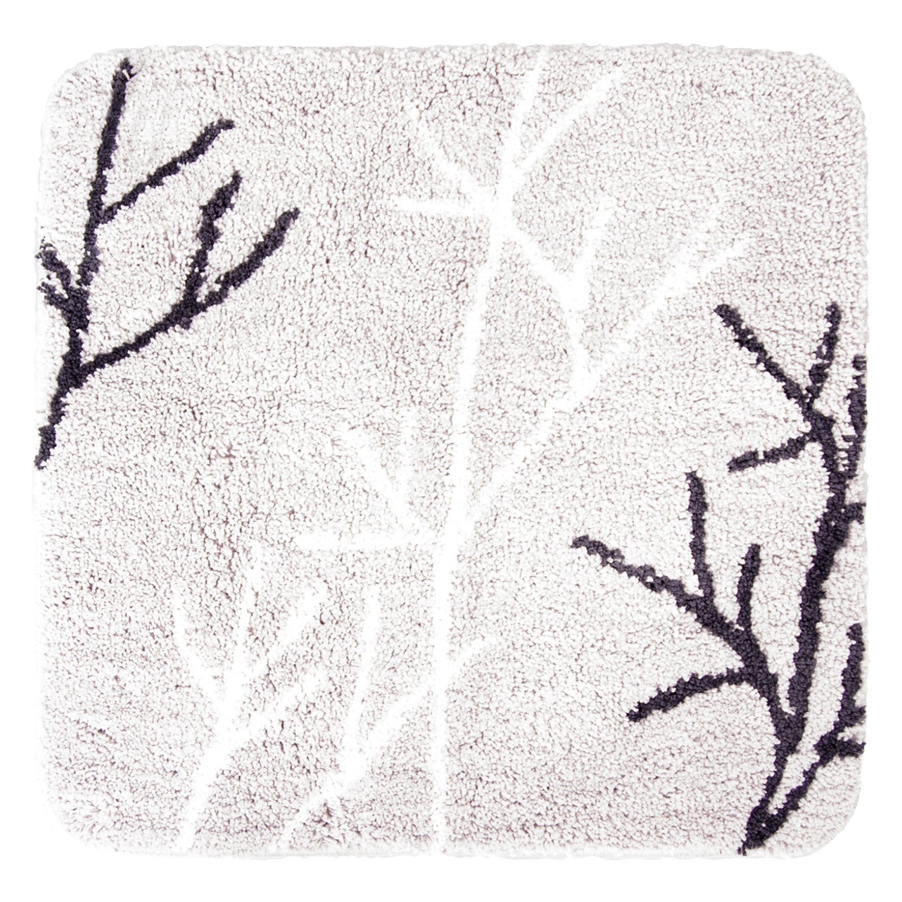 DIFFERNZ 31.220.24 Leaf Bath Mat, Grey by Differnz