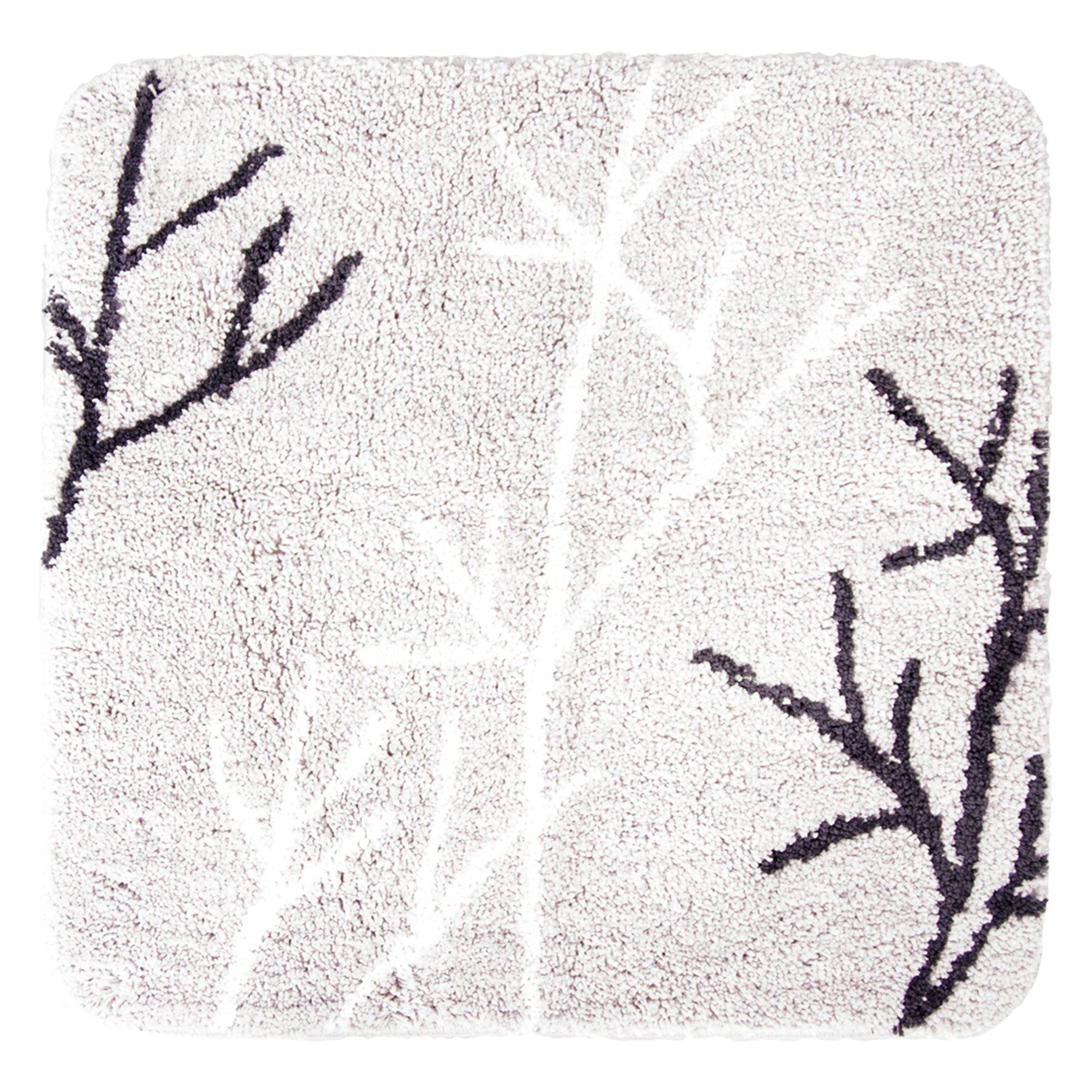DIFFERNZ 31.220.24Leaf Bath Mat, Grey by Differnz