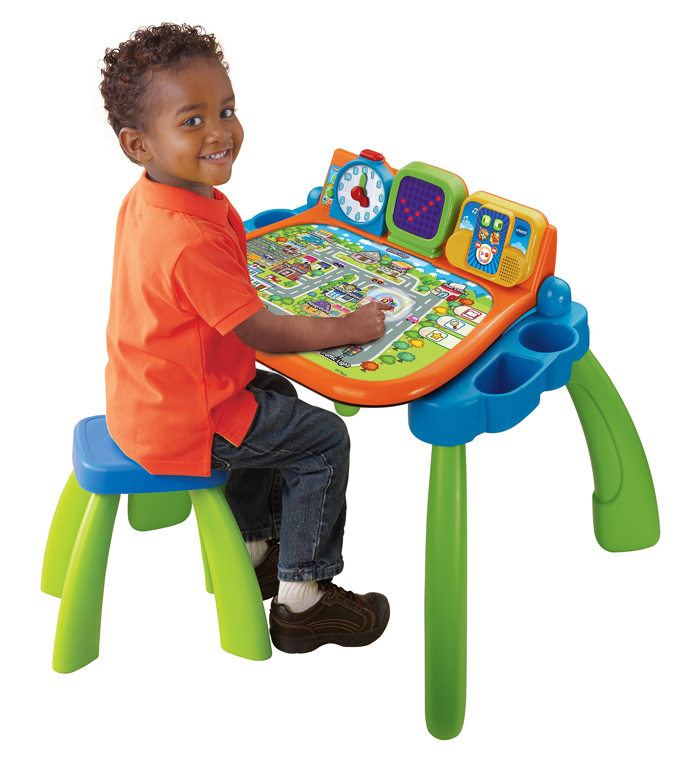 VTech Touch and Learn Activity Desk (Frustration Free Packaging), Green by VTech (Image #3)