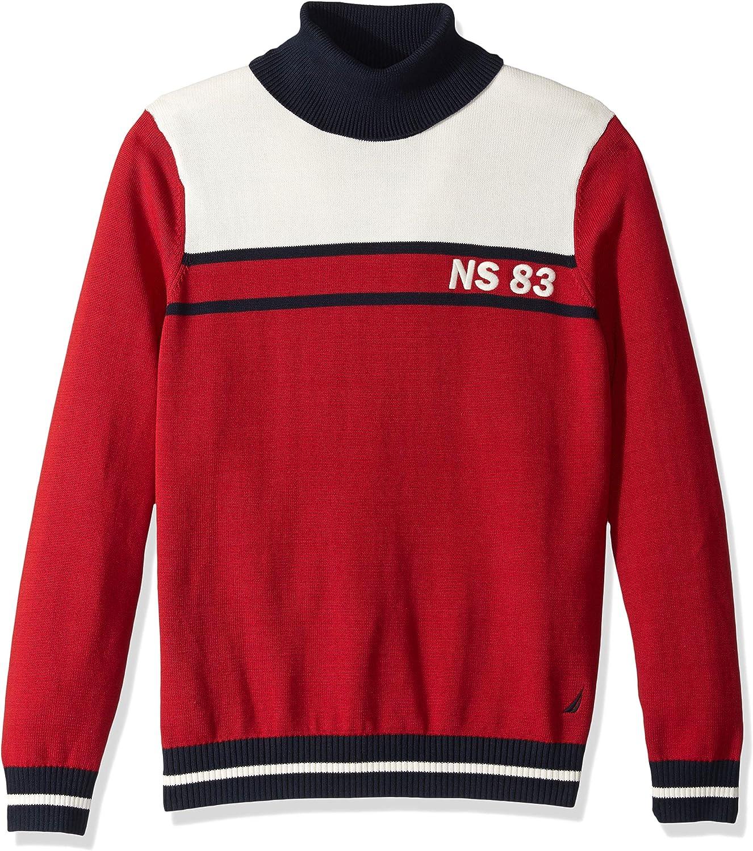 Nautica Mens Colorblock Turtleneck Sweater