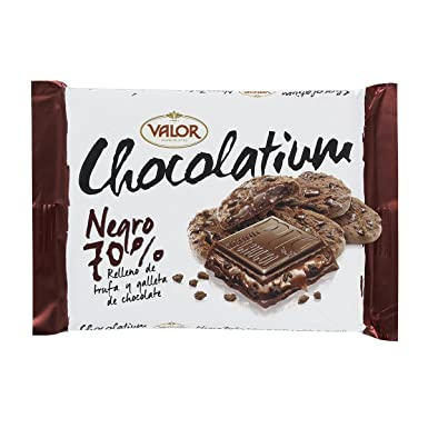 Chocolates Valor - Chocolatium Negro 70% 100 g