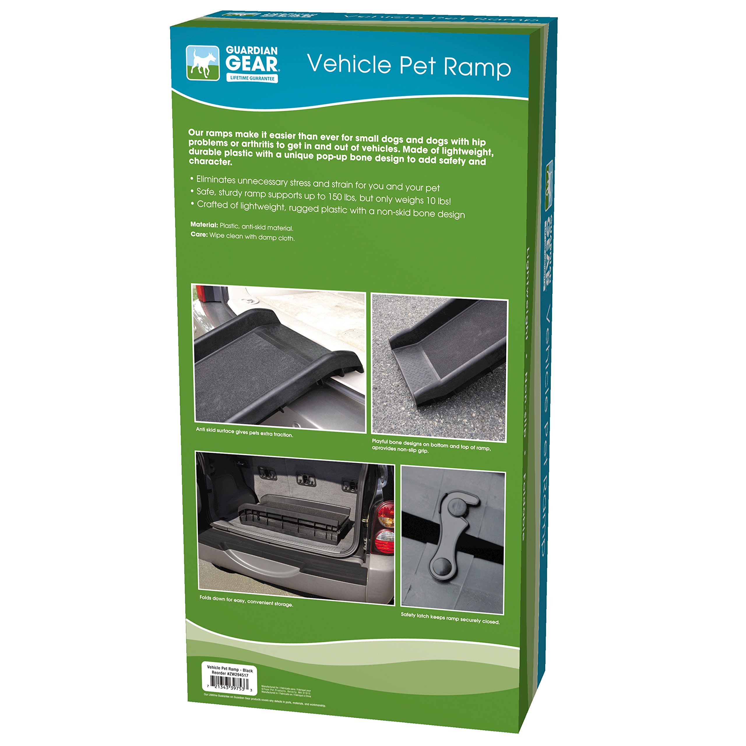 Guardian Gear Vehicle Ramps for Dogs - Black 62'' L x 16'' W x 4'' H