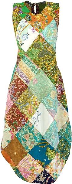 GURU-SHOP - Vestito - Donna Verde 38  Amazon.it  Abbigliamento 6a1319083df
