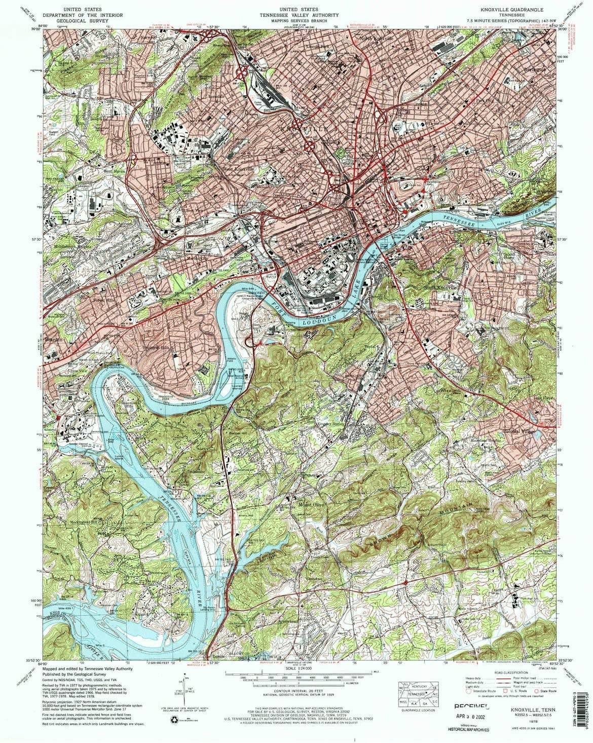 YellowMaps Knoxville TN topo map, 1:24000 Scale, 7.5 X 7.5 Minute, Historical, 1978, Updated 1979, 27.3 x 22 in