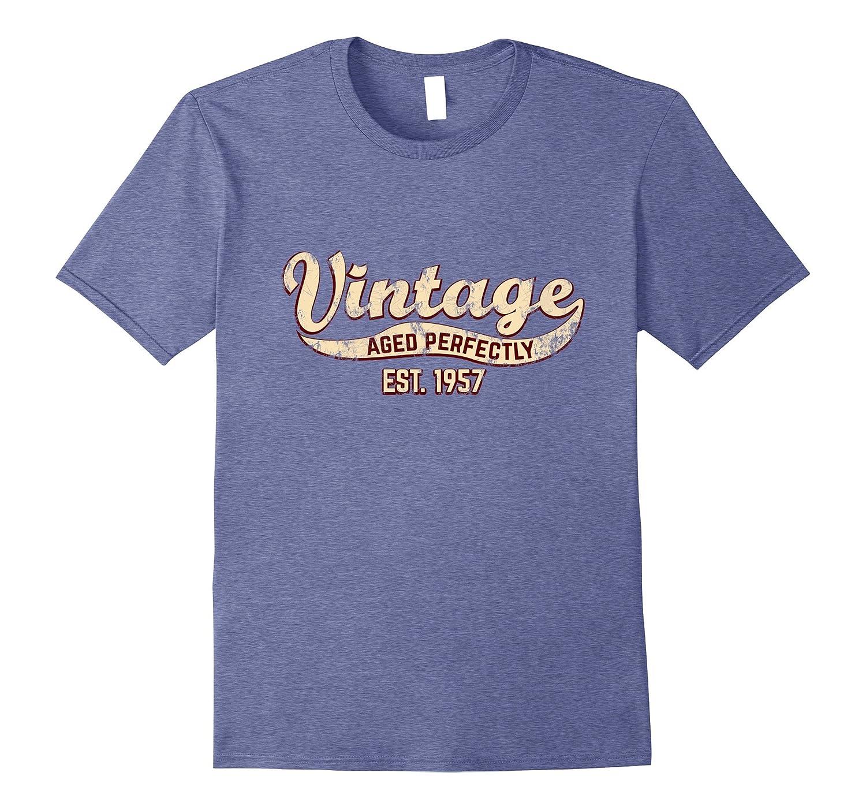 Vintage Est 1957 T Shirt 60th Birthday Gift 60 Yrs Old B Day
