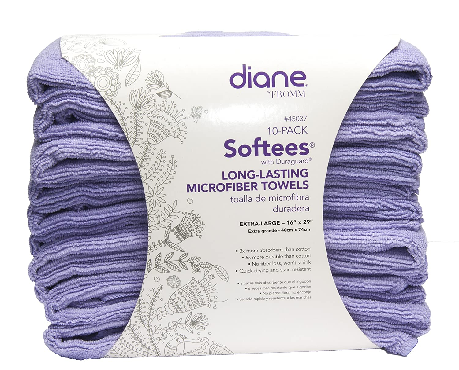 Amazon.com : Softees Towels with Duraguard, Plum, 10pk : Hair Drying Towels : Beauty