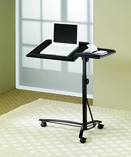 Amazon Com Adjustable Height Laptop Stand Black Kitchen Dining