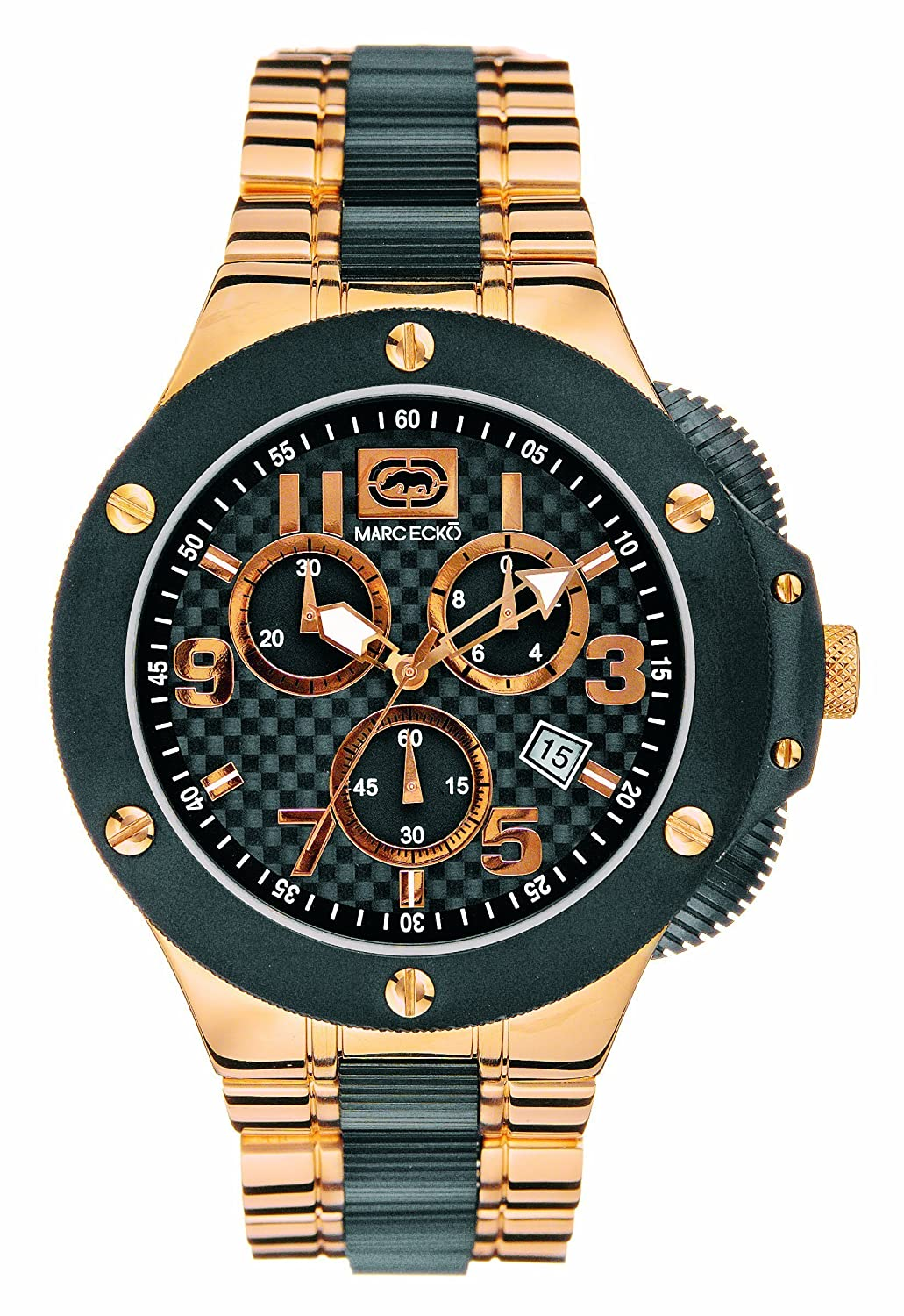 Marc Ecko E22521G1 Gents Black and Rose Gold Tone Chronograph Watch: Marc  Ecko: Amazon.co.uk: Watches