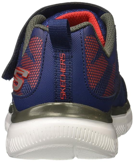 Skechers Jungen Flex Advantage 2.0-High Torque Sneaker, Blau (Navy/Red), 32 EU