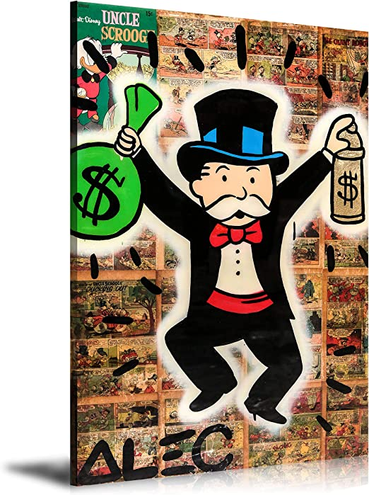 Alec Monopoly HD Print Oil Painting Decor Art on Canvas DENZEL MONOPOLY Unframed
