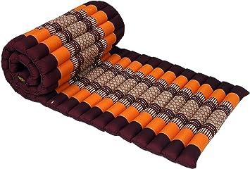 Guru-Shop Estera Enrollable Tailandesa con Relleno de Kapok, Algodón, 4x55x180 cm, Colchonetas Tailandesas/Colchonetas Para Tumbonas