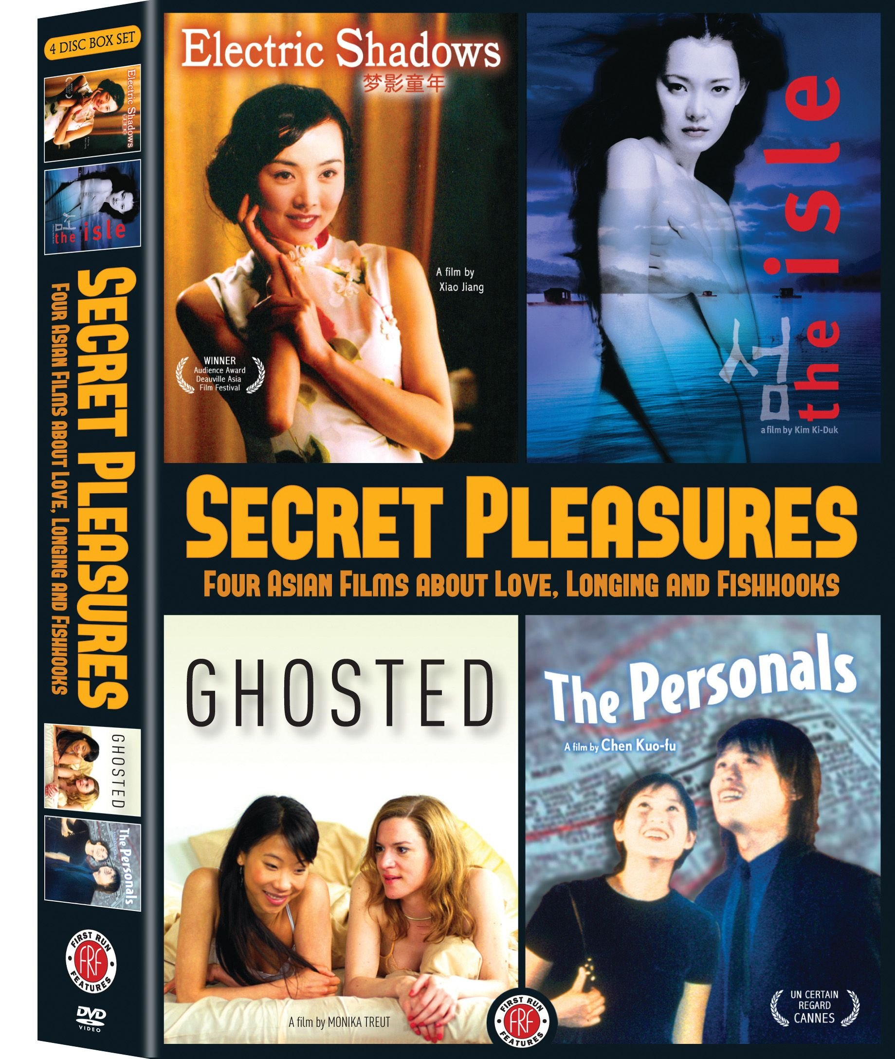 DVD : Jiang Yihong - Secret Pleasures: Four Asian Films About Love, Longing And Fishhooks (Widescreen, 4PC)
