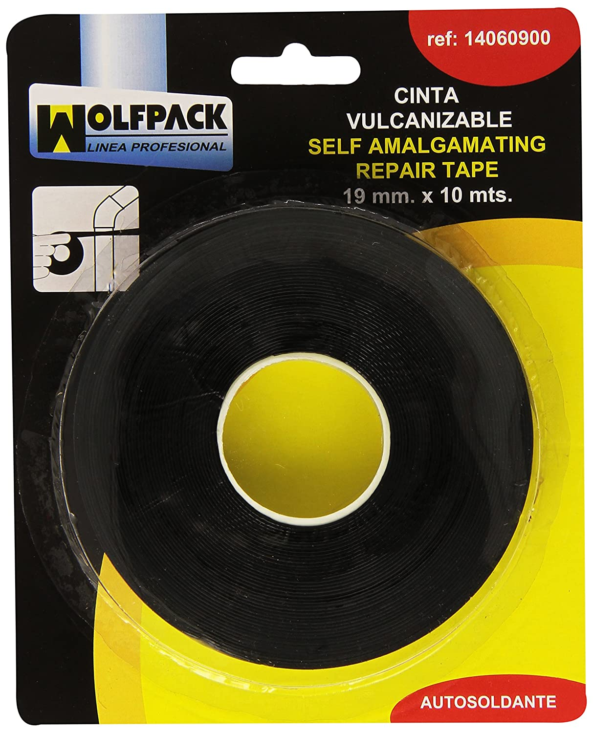 Wolfpack 14060900, Cinta Antideslizante Negra, 10 m x 19 mm A Forged Tool