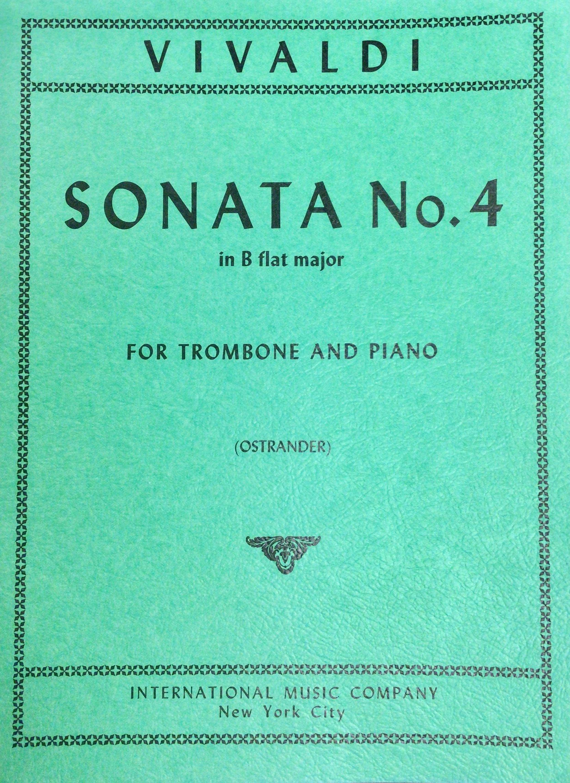 Sonata No. 4 in B Flat Major for Trombone and Piano Vivaldi