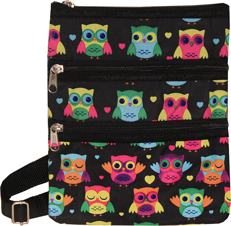One Size Black Trim Damask World Traveler Womens 9 Inch Swingpack Purse Bag