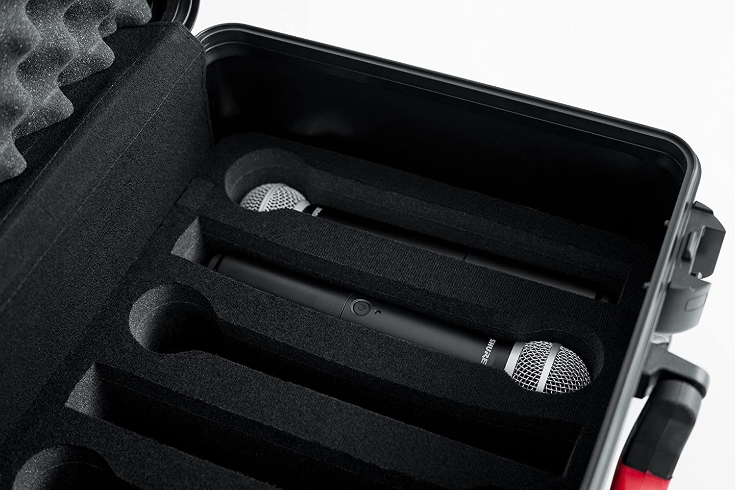 Wireless Microphones and Accessories with TSA Approved Locking Latch; 7 GTSA-MICW7 Gator Cases Molded Flight Case for