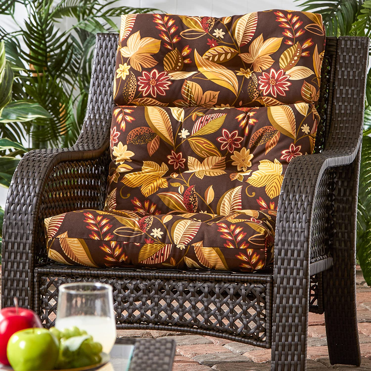 Amazon.com: Greendale Home Fashions Indoor/Outdoor High Back Chair Cushion,  Timberland Floral: Home U0026 Kitchen