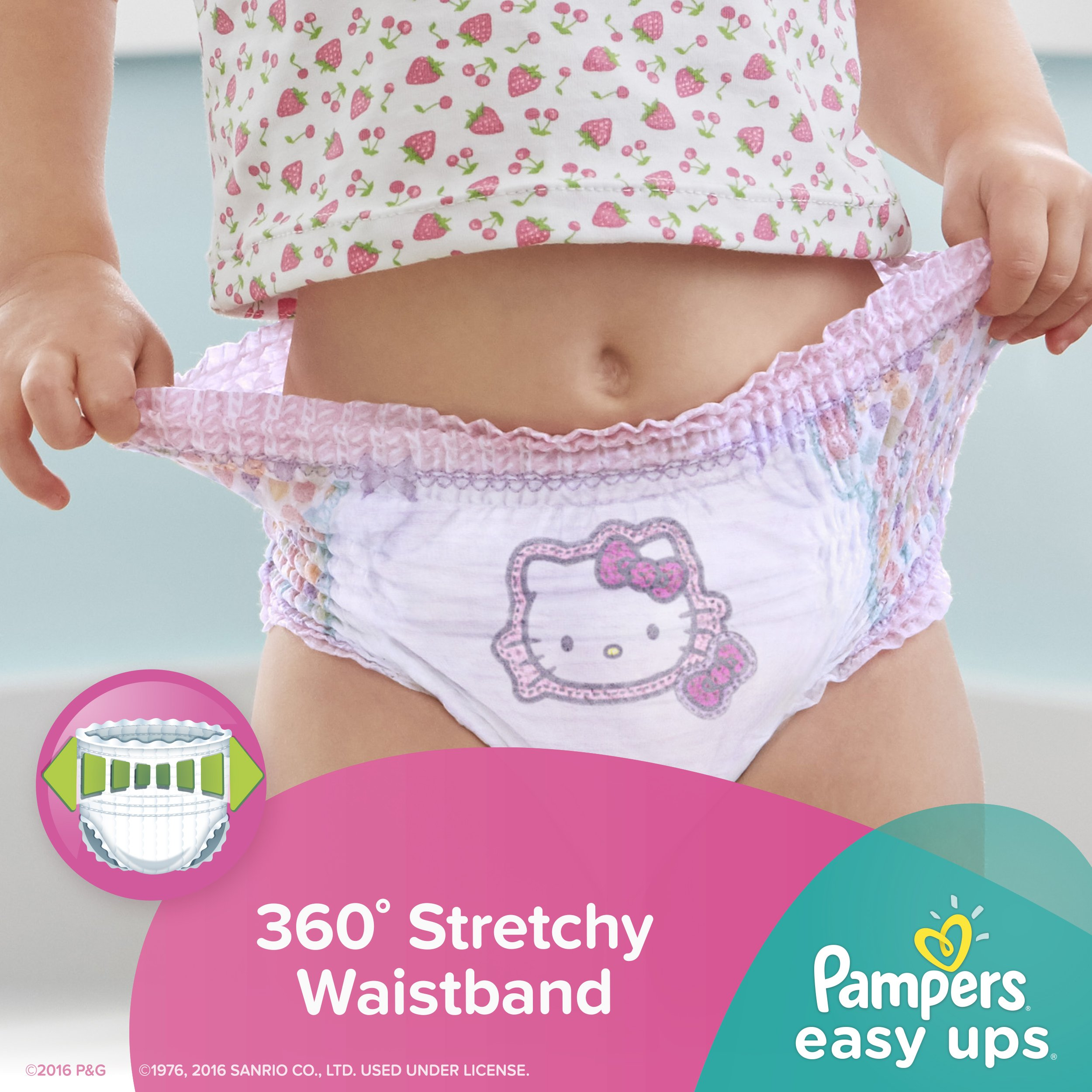 Pampers Easy Ups Training Pants Pull On Disposable Diapers for Girls Size 5 (3T-4T), 148 Count, ONE MONTH SUPPLY by Pampers (Image #5)