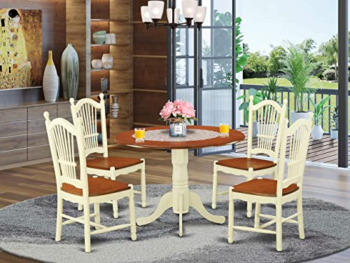 DLDO5-BMK-W 5 Pc Kitchen nook Dining set – Kitchen dinette Table and 4 Kitchen Chairs