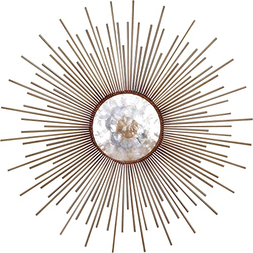 Deco 79 66714 Metal Capiz Wall Decor
