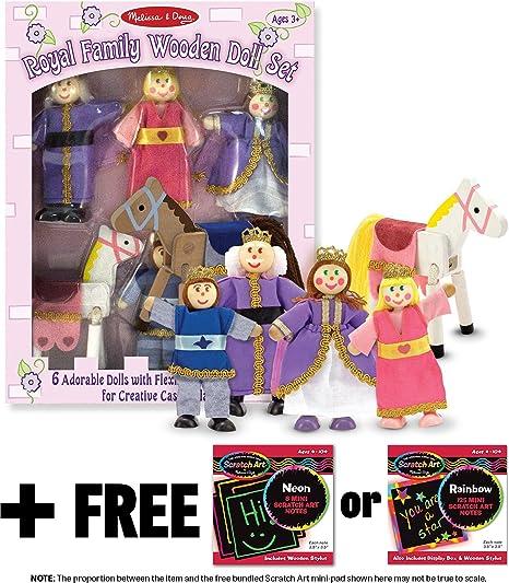 Amazoncom Royal Family Wooden Doll Set Free Melissa Doug