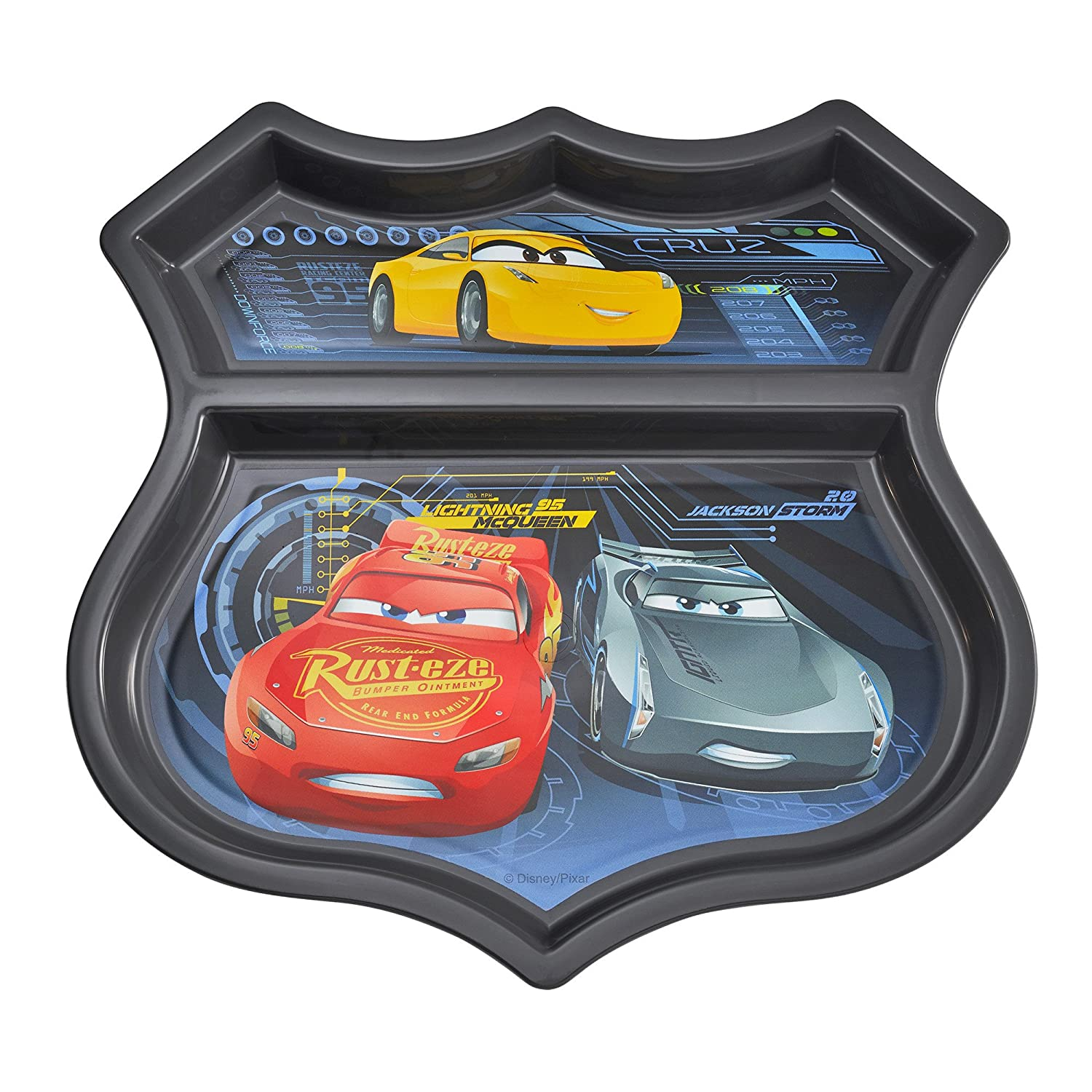 The First Years Disney/Pixar Cars Sectioned Plate, Colors May Vary Y9165