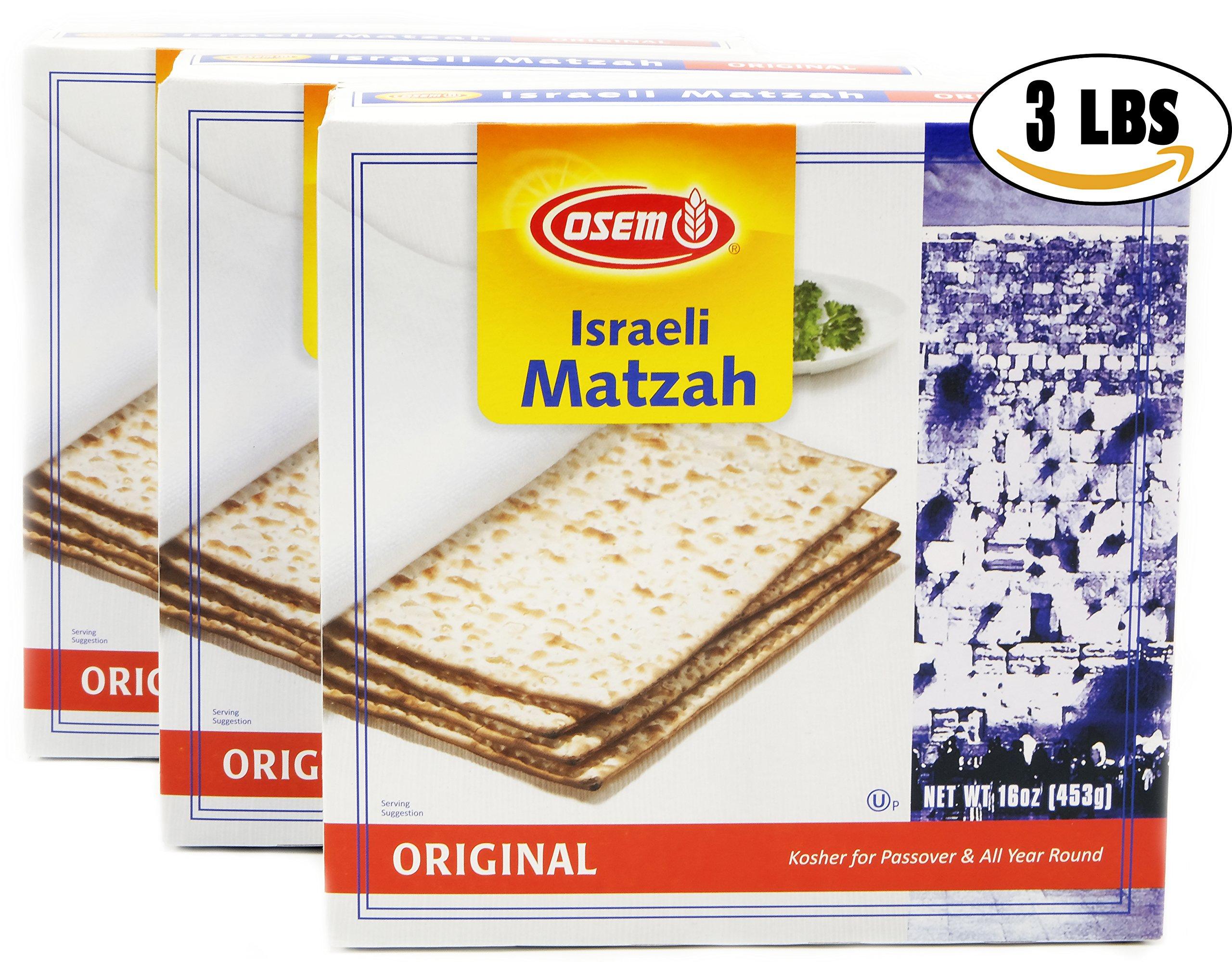 Matzo Osem Israeli Passover Matzo (3 Pounds)