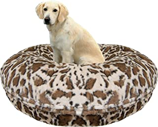 product image for BESSIE AND BARNIE Signature Giraffe Luxury Extra Plush Faux Fur Bagel Pet/Dog Bed (Multiple Sizes)