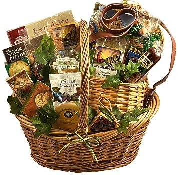 Amazon gift basket village fishing gift basket with deluxe gift basket village fishing gift basket with deluxe fishing creel a gift basket for negle Images