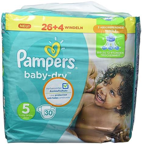 Pampers Baby-Dry, Tamaño 5, 11-23kg, 1er Pack (1