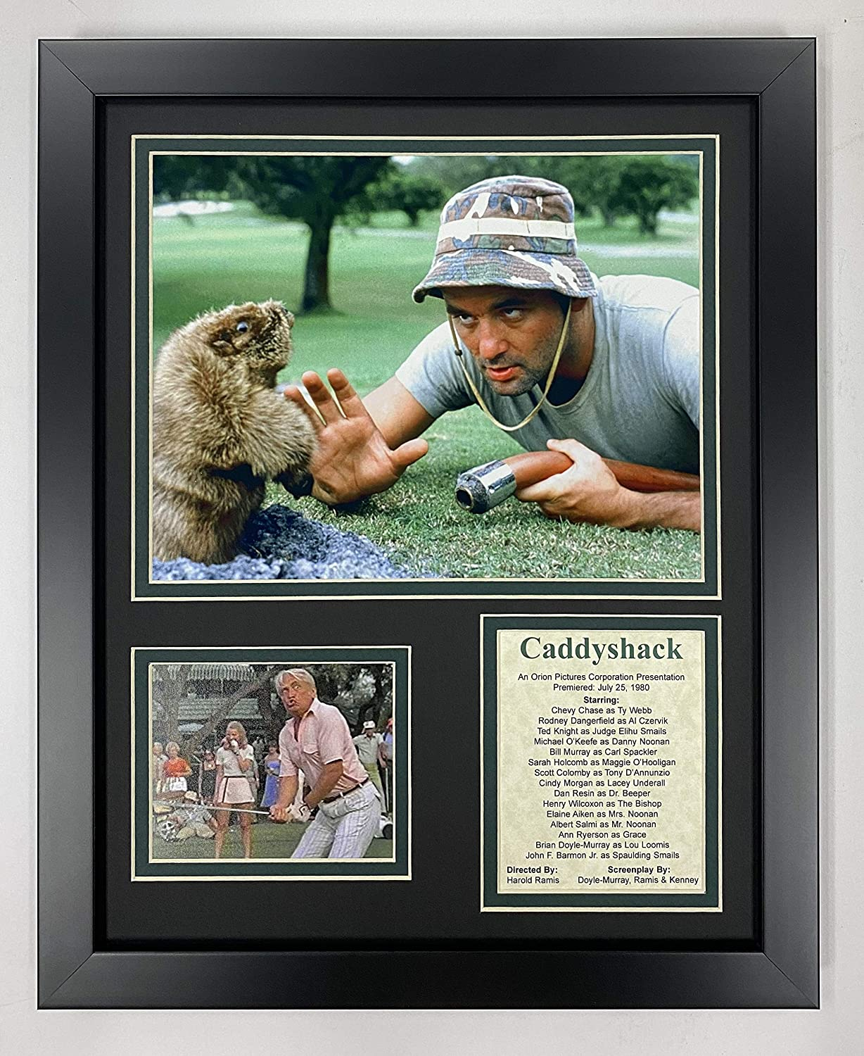 """Caddyshack 11"""" x 14"""" Framed Photo Collage by Legends Never Die, Inc."""