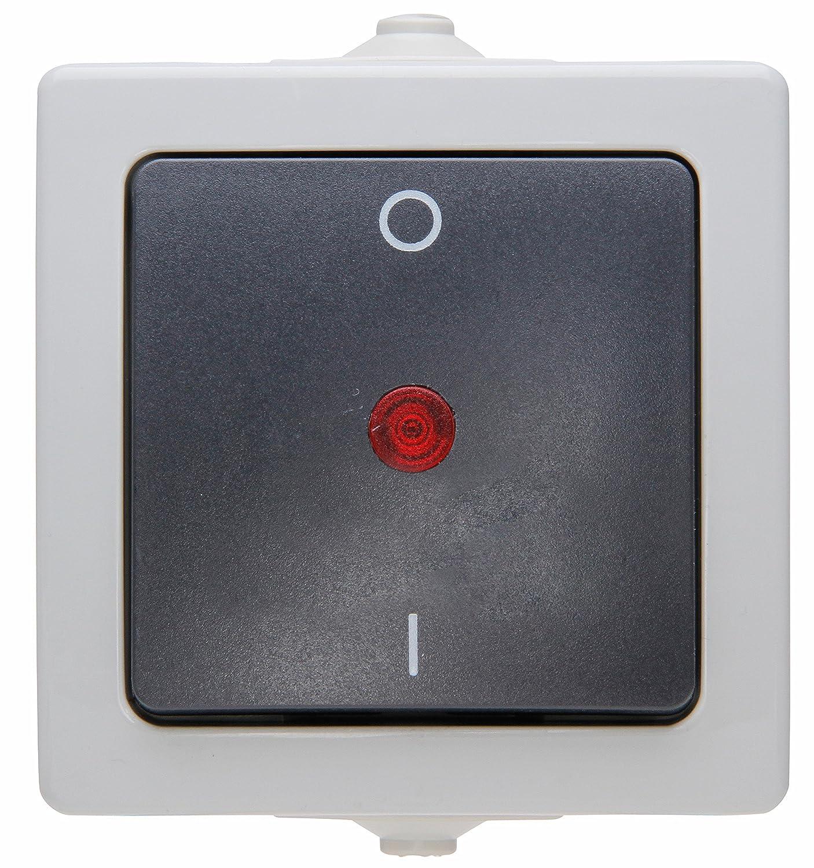 Kopp 565296007 Ausschalter 2-polig beleuchtet Aufputz Feuchtraum ...