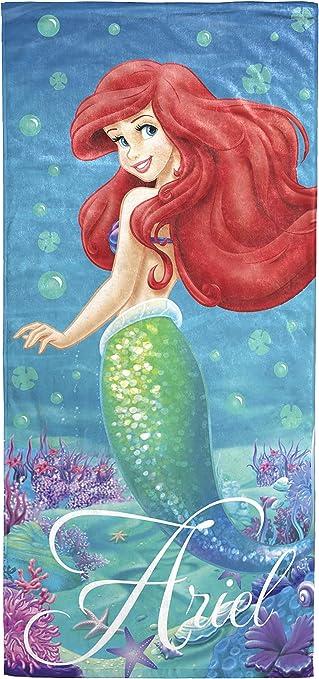 Disney Minnie Mouse Pastel Pink Blue Green Beach Towel Mermaid Kawaii Fabric