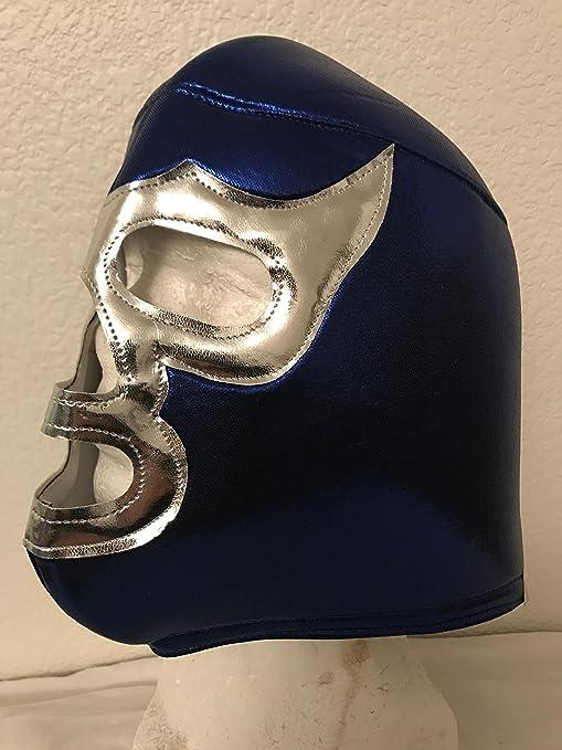 BLUE DEMON Adult mask Mil Mascaras El Santo LUCHA LIBRE MASK LUCHA UNDERGROUND PENTAGON JR NACHO