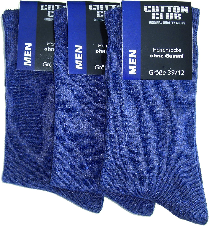 6 pares de calcetines terapéuticos para hombre aptos para diabéticos, algodón, sin elástico: Amazon.es: Ropa y accesorios