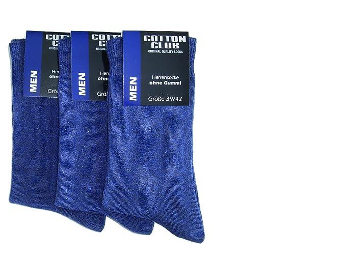6 pares de calcetines terapéuticos para hombre aptos para diabéticos, algodón, sin elástico