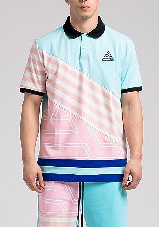 faf41c91 Amazon.com: Black Pyramid Clothing Pyramid Logo Polo Shirt - Blue ...