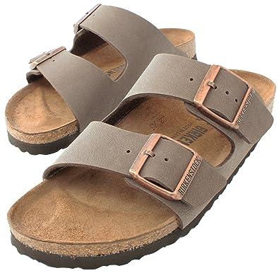 111b408a6 Amazon.com | Birkenstock Arizona 'Narrow Fit' (Women's) Cork Footbed Sandals,  Mocha, 41 N EU (10-10.5 N US Women) | Sport Sandals & Slides