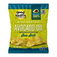 Good Health Kettle Style Potato Chips, Avocado Oil, Sea Salt, 1 oz. Bag, 30 Pack – Gluten Free, Crunchy Chips Cooked in 100% Avocado Oil, Great for Lunches or Snacking on the Go