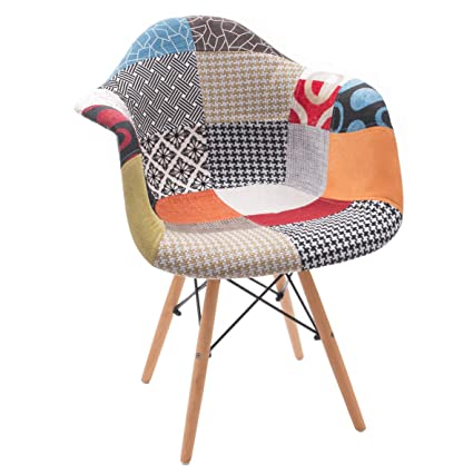 Sillón Patchwork Monet, Inspiración Sillon Tower de diseño nórdico-Scandi