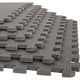 Stalwart Foam Mat Floor Tiles, Interlocking EVA Foam Padding Soft Flooring for Exercising, Yoga, Camping, Kids, Babies…