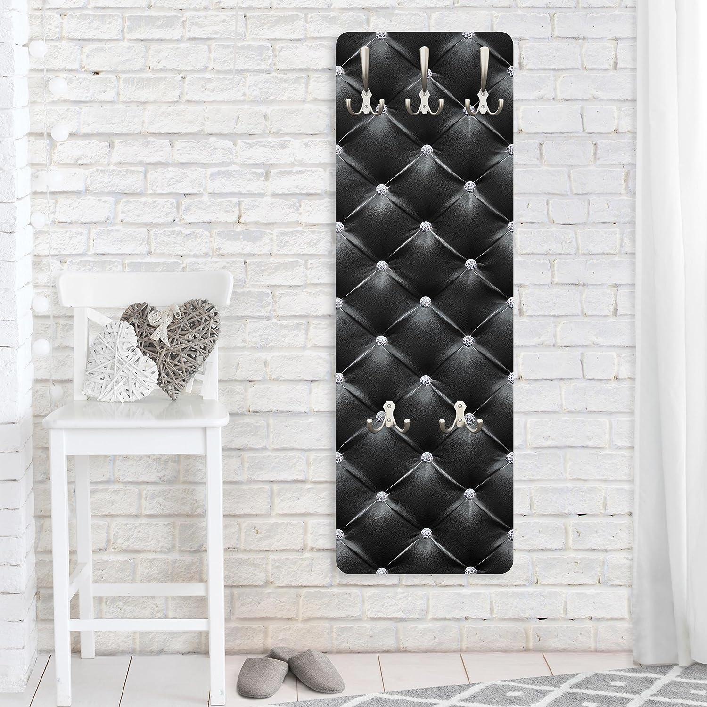 Bilderwelten Appendiabiti - Diamond Black Luxury - 139x46x2cm, appendiabiti a muro, appendiabiti da muro, appendiabiti da parete, appendiabiti design, Dimensione: 139cm x 46cm PPS. Imaging GmbH