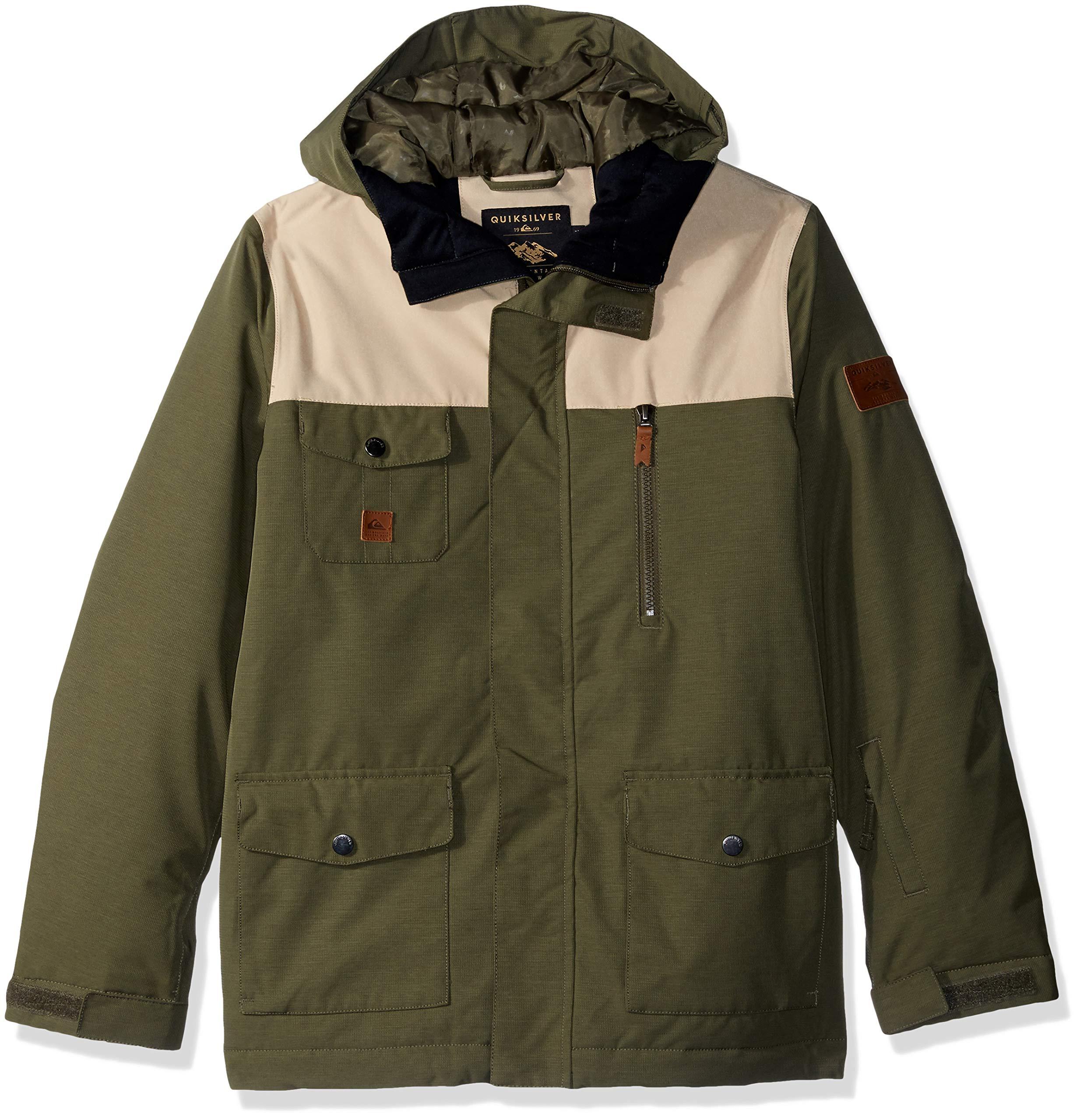 Quiksilver Boys' Big RAFT Youth 10K Snow Jacket, Grape Leaf 8/S