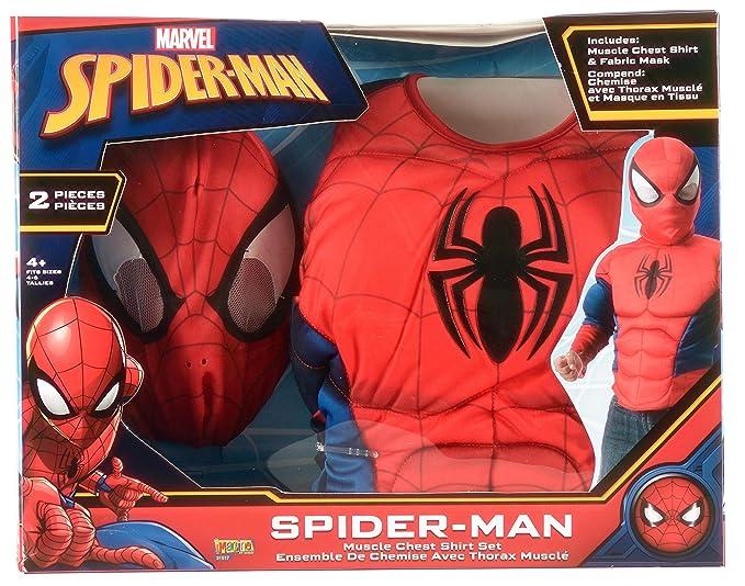 Disfraz de Spiderman para niños, pecho y máscara, infantil talla única (Rubies 31517): Amazon.es: Juguetes y juegos