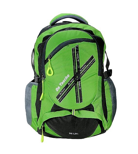 50e8f92a293 Da Tasche Cross Polyester 35 Ltr Neon Green School Backpack School Bags