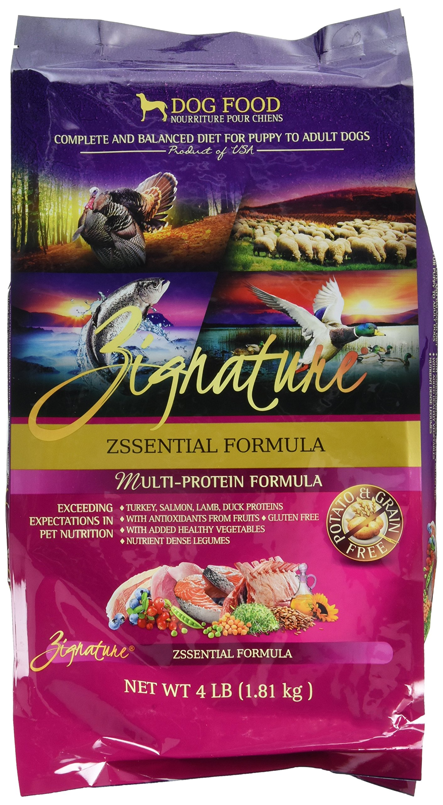 Zignature Zssential Formula Dog Food, 4 lb.
