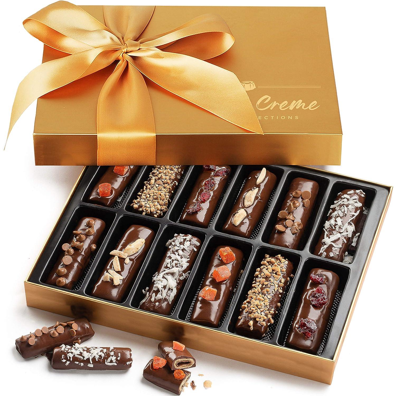 Hazel & Creme Chocolate Hazelnut Wafer Gift - Gourmet Food Gift - Fathers Day, Birthday, Thank You Gift Basket