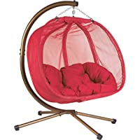 Flower House FHPC100-RD Hanging Pumpkin Loveseat Chair with Stand (Red)