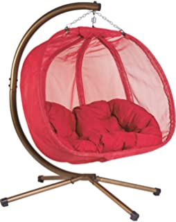 d8613e7ba Flower House FHPC100-RD Hanging Pumpkin Loveseat Chair with Stand, Red