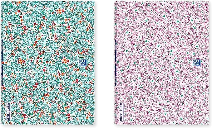 LIBRETA OPENFLEX OXFORD BLOOM Tapa de Plástico A4 48H 1 Línea 2M ...
